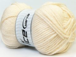 Lot of 4 x 100gr Skeins Ice Yarns Bulky ATLAS Hand Knitting Yarn Ecru