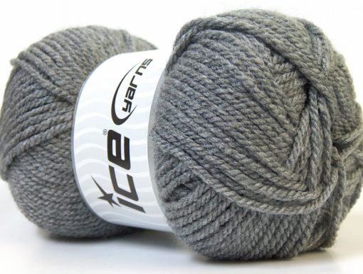 Lot of 4 x 100gr Skeins Ice Yarns Bulky ATLAS Hand Knitting Yarn Grey