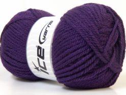 Lot of 4 x 100gr Skeins Ice Yarns Bulky ATLAS Hand Knitting Yarn Purple