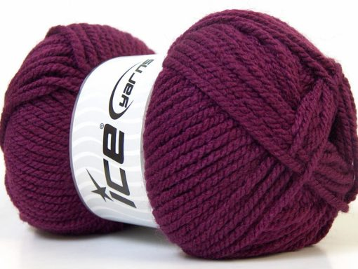 Lot of 4 x 100gr Skeins Ice Yarns Bulky ATLAS Hand Knitting Yarn Maroon