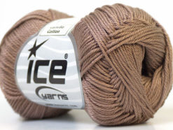 Lot of 6 Skeins Ice Yarns CAMILLA COTTON (100% Mercerized Cotton) Yarn Camel