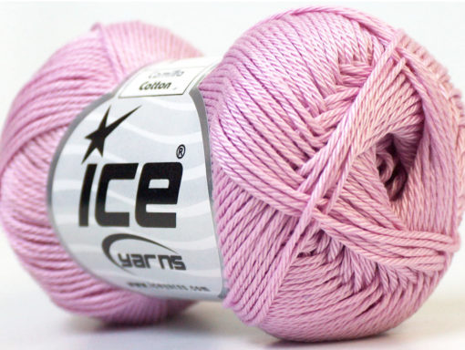 Lot of 6 Skeins Ice Yarns CAMILLA COTTON (100% Mercerized Cotton) Yarn Lilac