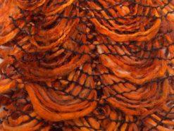 Lot of 4 x 75gr Skeins Ice Yarns CHA CHA CHA Ruffle Scarf Yarn Orange Brown