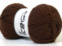 Lot of 4 x 100gr Skeins Ice Yarns Worsted FAVORITE Hand Knitting Yarn Brown