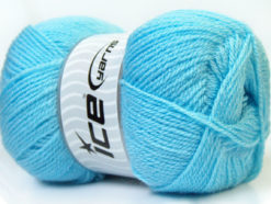 Lot of 4 x 100gr Skeins Ice Yarns SUPER BABY Hand Knitting Yarn Blue