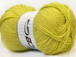 Lot of 4 x 100gr Skeins Ice Yarns SUPER BABY Hand Knitting Yarn Light Green