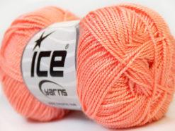 Lot of 10 Skeins Ice Yarns ETAMIN Hand Knitting Yarn Salmon