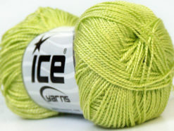 Lot of 10 Skeins Ice Yarns ETAMIN Hand Knitting Yarn Light Green