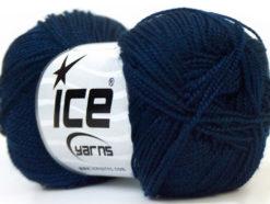 Lot of 10 Skeins Ice Yarns ETAMIN Hand Knitting Yarn Navy