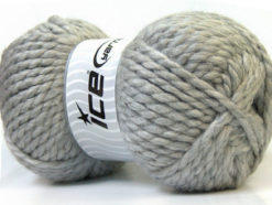 Lot of 2 x 150gr Skeins Ice Yarns SuperBulky ALPINE (45% Wool) Yarn Light Grey