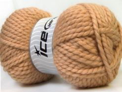 Lot of 2 x 150gr Skeins Ice Yarns SuperBulky ALPINE (45% Wool) Yarn Light Brown