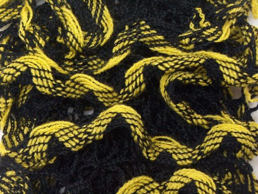 Lot of 4 x 100gr Skeins Ice Yarns MIRABELLA Ruffle Scarf Yarn Yellow Black