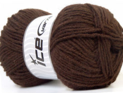 Lot of 4 x 100gr Skeins Ice Yarns ZERDA ALPACA (30% Alpaca 70% Dralon) Yarn Dark Brown