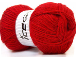Lot of 4 x 100gr Skeins Ice Yarns ZERDA ALPACA (30% Alpaca 70% Dralon) Yarn Red