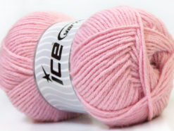 Lot of 4 x 100gr Skeins Ice Yarns ZERDA ALPACA (30% Alpaca 70% Dralon) Yarn Light Pink
