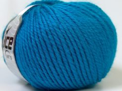 Lot of 4 x 100gr Skeins Ice Yarns ALPACA BULKY (25% Alpaca 35% Wool) Yarn Turquoise