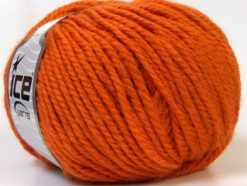 Lot of 4 x 100gr Skeins Ice Yarns ALPACA BULKY (25% Alpaca 35% Wool) Yarn Orange