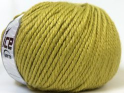 Lot of 4 x 100gr Skeins Ice Yarns ALPACA BULKY (25% Alpaca 35% Wool) Yarn Green