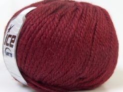 Lot of 4 x 100gr Skeins Ice Yarns ALPACA BULKY (25% Alpaca 35% Wool) Yarn Burgundy