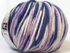 Lot of 4 x 100gr Skeins Ice Yarns ALPACA BULKY MAGIC (25% Alpaca 35% Wool) Yarn Purple Lilac White
