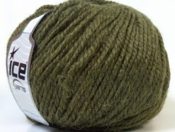 Lot of 4 x 100gr Skeins Ice Yarns ALPACA BULKY (25% Alpaca 35% Wool) Yarn Dark Green