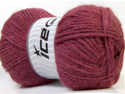 Lot of 4 x 100gr Skeins Ice Yarns ZERDA ALPACA (30% Alpaca 70% Dralon) Yarn Burgundy