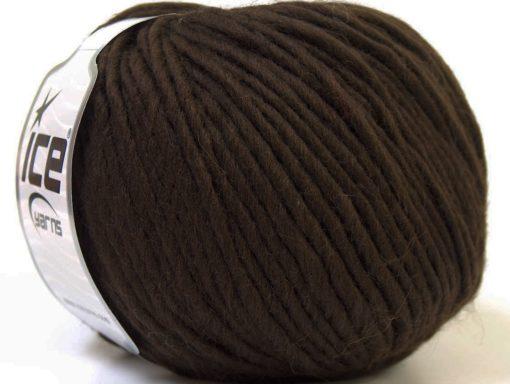Lot of 4 x 100gr Skeins Ice Yarns FILZY WOOL (100% Wool) Yarn Brown