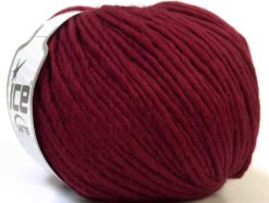 Lot of 4 x 100gr Skeins Ice Yarns FILZY WOOL (100% Wool) Yarn Burgundy