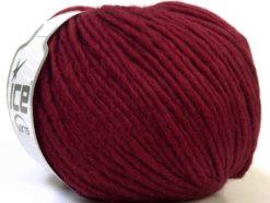 Lot of 4 x 100gr Skeins Ice Yarns FILZY WOOL (100% Wool) Yarn Burgundy