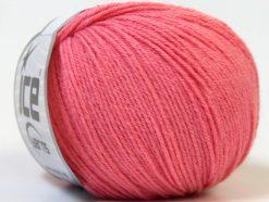 Lot of 6 Skeins Ice Yarns BABY MERINO (40% Merino Wool) Yarn Salmon