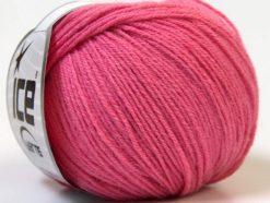 Lot of 6 Skeins Ice Yarns BABY MERINO (40% Merino Wool) Hand Knitting Yarn Pink