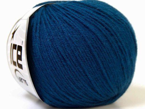 Lot of 6 Skeins Ice Yarns BABY MERINO (40% Merino Wool) Hand Knitting Yarn Navy