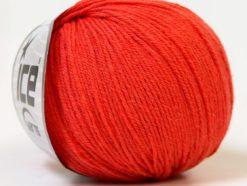 Lot of 6 Skeins Ice Yarns BABY MERINO (40% Merino Wool) Yarn Orange