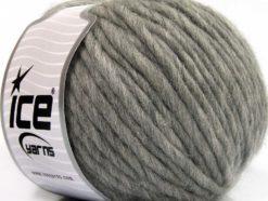 Lot of 4 x 100gr Skeins Ice Yarns PURE WOOL SUPERBULKY (100% Australian Wool) Yarn Light Grey