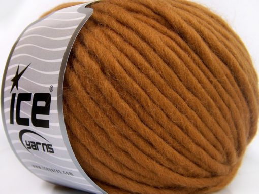 Lot of 4 x 100gr Skeins Ice Yarns PURE WOOL SUPERBULKY (100% Australian Wool) Yarn Light Brown
