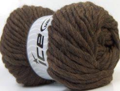 Lot of 4 x 100gr Skeins Ice Yarns PURE WOOL SUPERBULKY (100% Australian Wool) Yarn Dark Brown