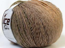 Lot of 4 x 100gr Skeins Ice Yarns MIRAGE COLOR (50% Wool) Yarn Brown Shades Camel Khaki
