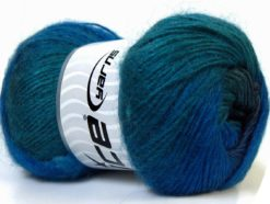Lot of 4 x 100gr Skeins Ice Yarns MADONNA (40% Wool 30% Mohair) Yarn Blue Shades