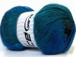 Lot of 4 x 100gr Skeins Ice Yarns MADONNA (40% Wool 30% Mohair) Yarn Blue Shades