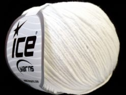 Lot of 8 Skeins Ice Yarns ALARA (50% Cotton) Hand Knitting Yarn White