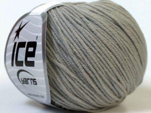 Lot of 8 Skeins Ice Yarns ALARA (50% Cotton) Hand Knitting Yarn Grey