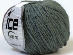 Lot of 8 Skeins Ice Yarns ALARA (50% Cotton) Hand Knitting Yarn Dark Grey