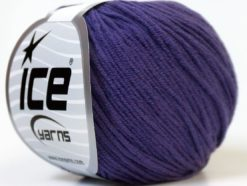 Lot of 8 Skeins Ice Yarns ALARA (50% Cotton) Hand Knitting Yarn Purple