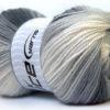 Lot of 4 x 100gr Skeins Ice Yarns BABY BATIK Yarn Black Grey White
