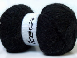 Lot of 2 x 150gr Skeins Ice Yarns SuperBulky ALPINE ALPACA (30% Alpaca 10% Wool) Yarn Black