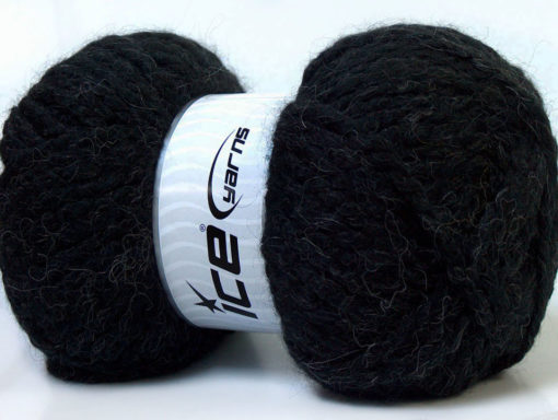 Lot of 2 x 150gr Skeins Ice Yarns SuperBulky ALPINE ALPACA (30% Alpaca 10% Wool) Yarn Black