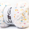 Lot of 4 x 100gr Skeins Ice Yarns PUFFY POMPOM (85% MicroFiber) Yarn White