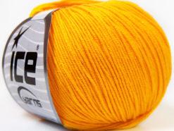 Lot of 8 Skeins Ice Yarns BABY SUMMER (60% Cotton) Hand Knitting Yarn Yellow