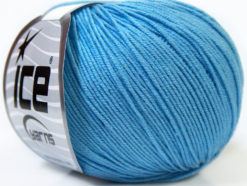 Lot of 8 Skeins Ice Yarns BABY SUMMER (60% Cotton) Yarn Light Blue