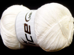 Lot of 4 x 100gr Skeins Ice Yarns BABY ANTIBACTERIAL (100% Antibacterial Dralon) Yarn Off White